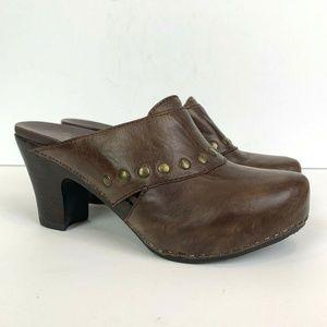 Dansko Rudy Studded Leather Clog Slip On Shoes